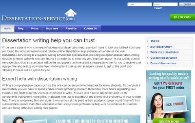 Dissertation help service outline
