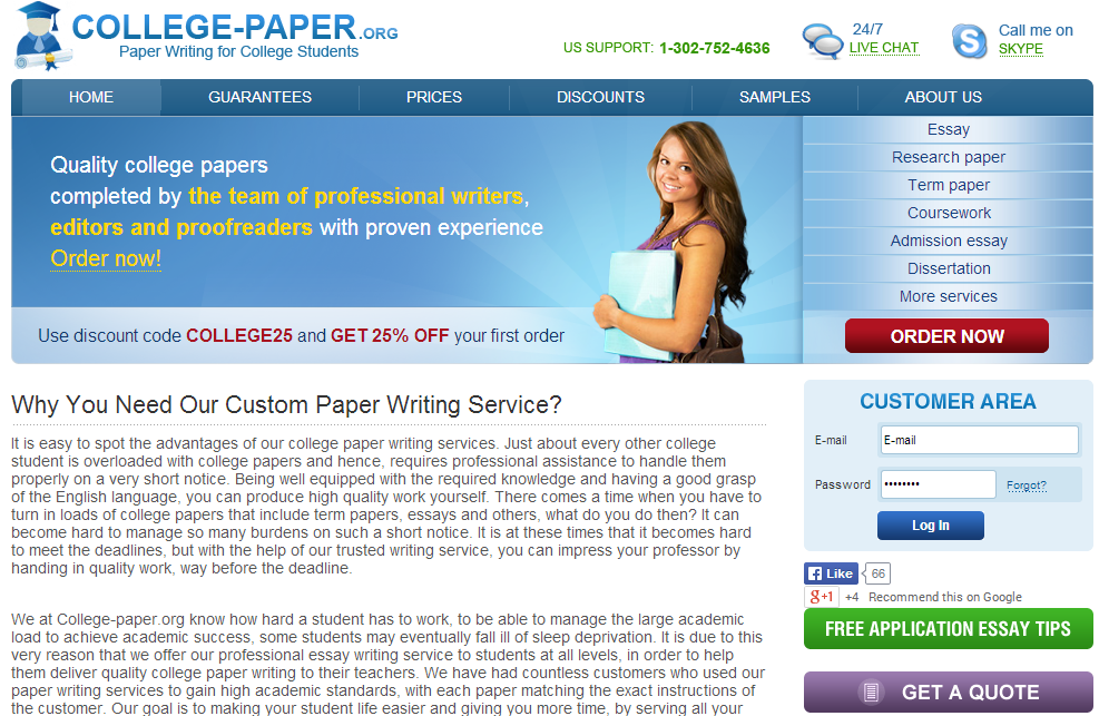college top 4 customized term papers